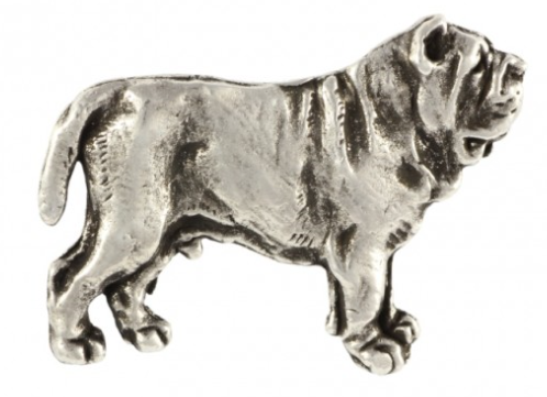 Neapolitan Mastiff Full Body Silver Plated Lapel Pin