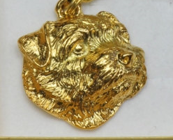 Norfolk Terrier Hard Gold Plated Key Chain