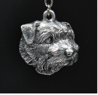 Norfolk Terrier Silver Plated Key Chain