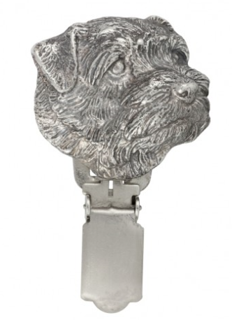 Norfolk Terrier Silver Plated Show Clip