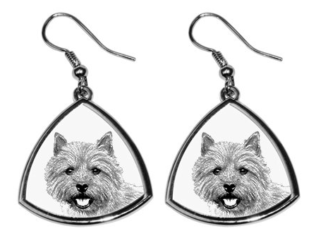 Norwich Terrier Silver Plated Earrings