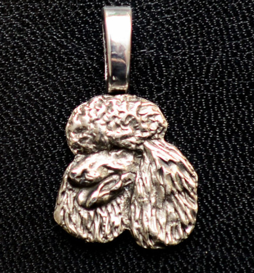 Poodle Silver Plated Mini Charm
