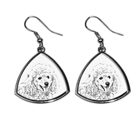 Poodle Silver Plated Earrings