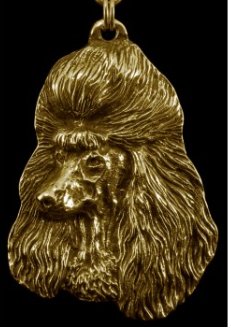 Poodle Hard Gold Plated Pendant