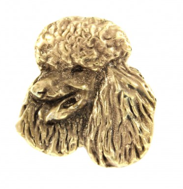 Poodle Hard Gold Plated Lapel Pin