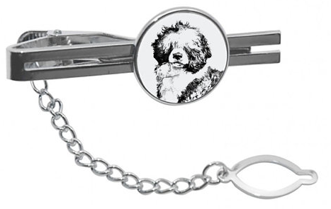 Portuguese Water Dog Tie Pin