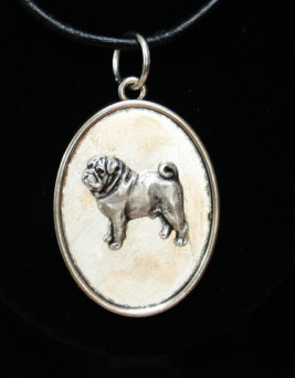 Pug Silver Plated Pendant
