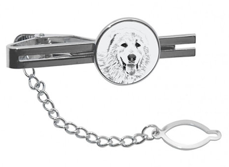Pyrenean Mastiff Silver Plated Tie Pin
