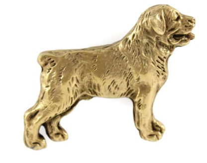 Rottweiler Full Body Hard Gold Plated Lapel Pin