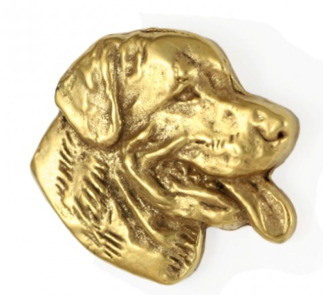 Rottweiler Hard Gold Plated Lapel Pin