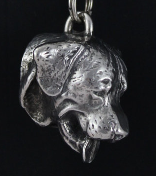 Rottweiler Silver Plated Key Chain