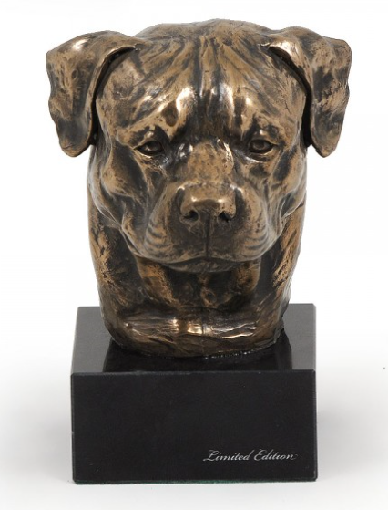 Rottweiler Statue on a Marble Base