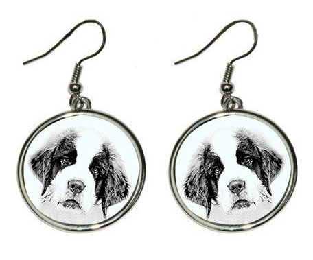 St Bernard Silver Plated Earrings