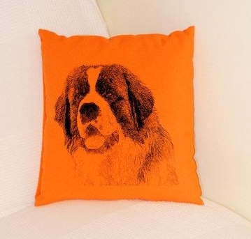 St Bernard Pillow Orange