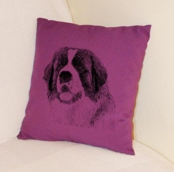 St Bernard Pillow Purple