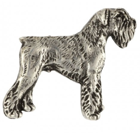 Schnauzer Full Body Silver Plated Lapel Pin