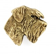 Schnauzer Hard Gold Plated Lapel Pin