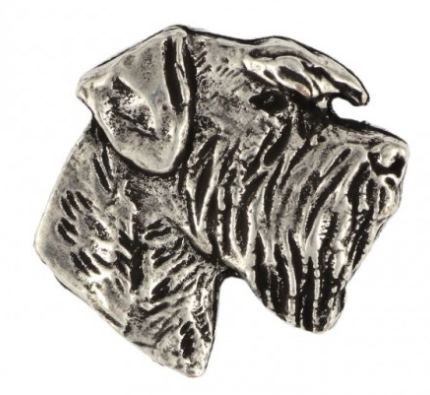 Schnauzer Silver Plated Lapel Pin
