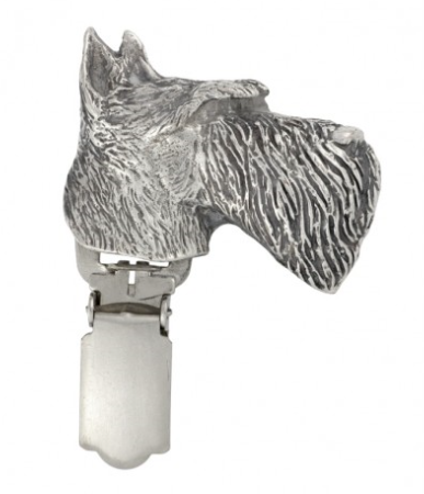 Scottish Terrier Silver Plated Show Clip