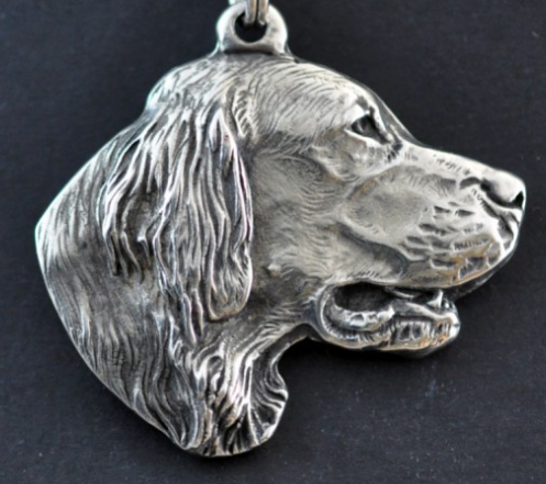 Setter Silver Plated Key Chain