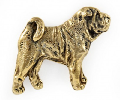 Shar-Pei Full Body Hard Gold Plated Lapel Pin