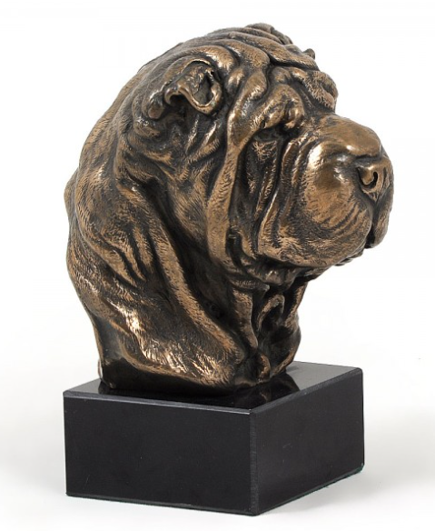 Shar-Pei Statue on a Marble Base