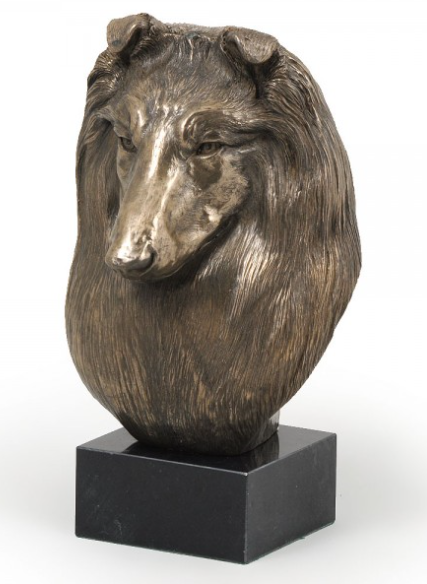 Shetland Sheepdog Sheltie Statue on a Marble Base