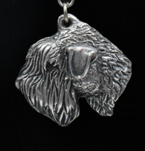 Soft Coated Wheaten Terrier Silver Plated Key Chain