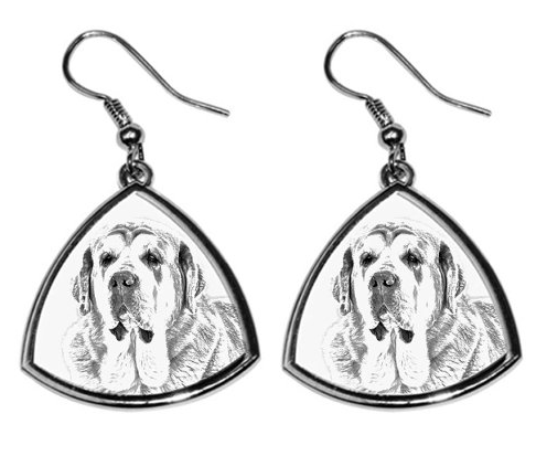 Spanish Mastiff Silver Plated Earrings