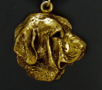 Spanish Mastiff Hard Gold Plated Key Chain