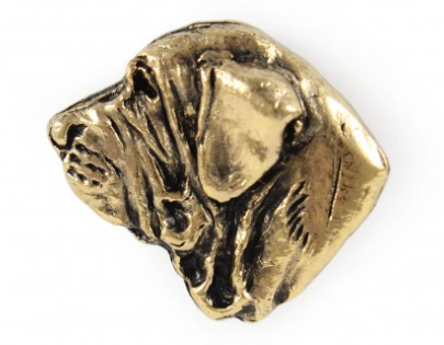 Spanish Mastiff Hard Gold Plated Lapel Pin