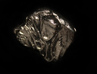 Spanish Mastiff Silver Plated Lapel Pin