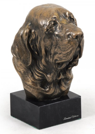 Spanish Mastiff Statue on a Marble Base