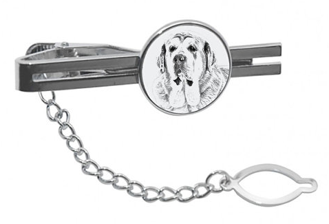 Spanish Mastiff Silver Plated Tie Pin