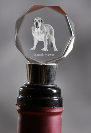 Spanish Mastiff Crystal Wine Stopper