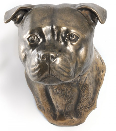 Staffordshire Bull Terrier Staffy Wall Hung Statue