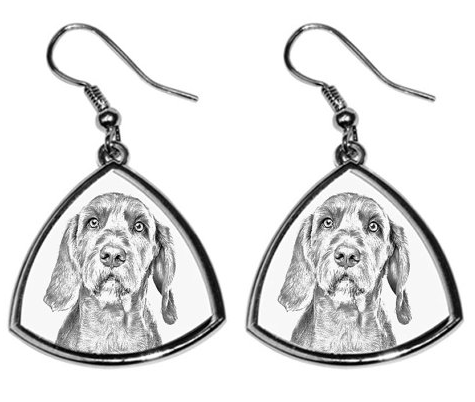 Vizsla Wirehaired Silver Plated Earrings