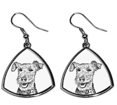 Welsh Terrier Silver Plated Earrings
