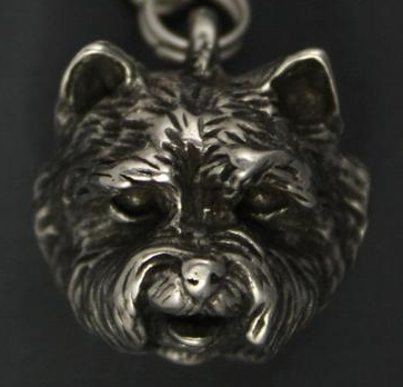 West Highland White Terrier Silver Plated Key Chain