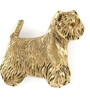 West Highland Terrier Hard Gold Plated Lapel Pin