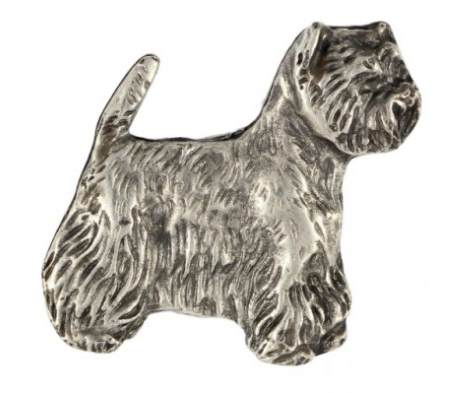 West Highland Terrier Silver Plated Lapel Pin