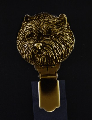 West Highland Terrier Hard Gold Plated Show Clip