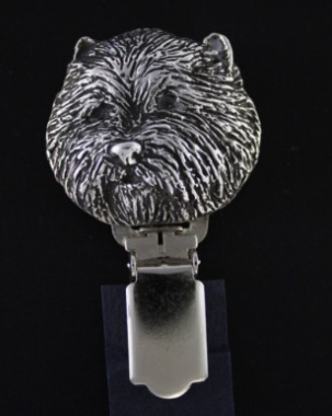 West Highland Terrier Silver Plated Show Clip