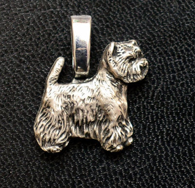 West Highland Terrier Small Full Body Mini Charm