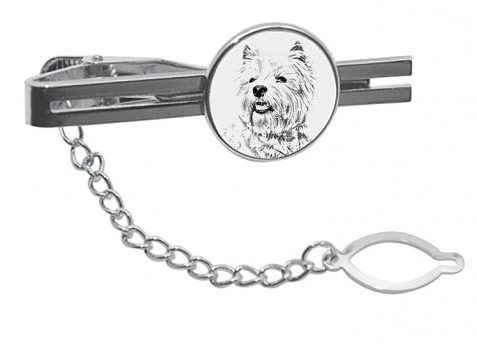 West Highland Terrier Lead Tie Clip