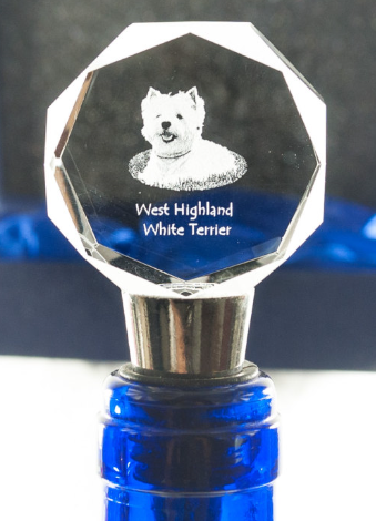 West Highland Terrier Crystal Wine Stopper