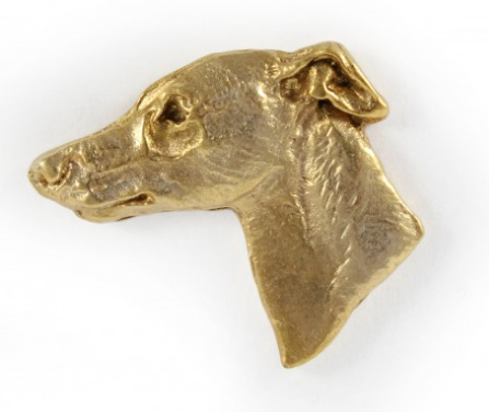 Whippet Hard Gold Plated Lapel Pin