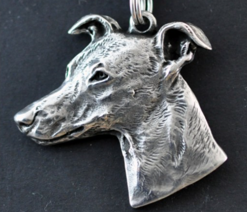 Whippet Silver Plated Key Chain