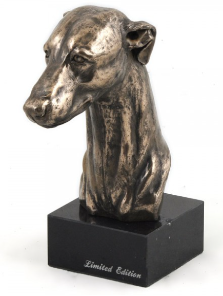 Greyhound Free Standing Bust on a Marble Base