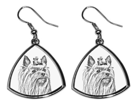 Yorkshire Terrier Silver Plated Earrings
